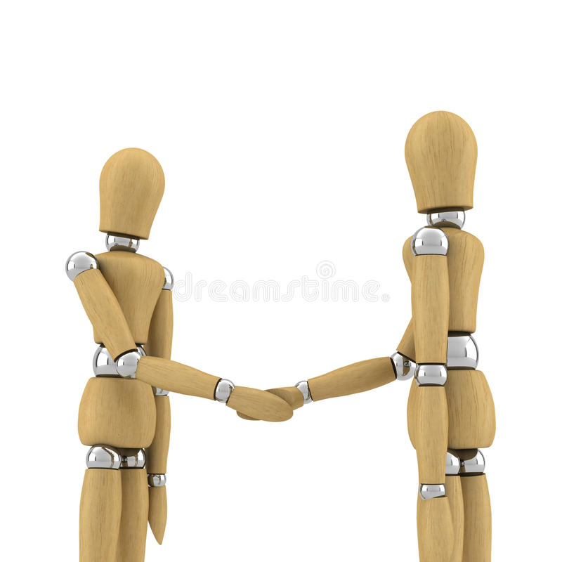 Download Hand shake stock image. Image of dummy, introduction - 10346793