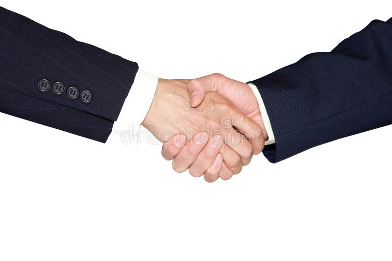 Hand shake royalty free stock photos