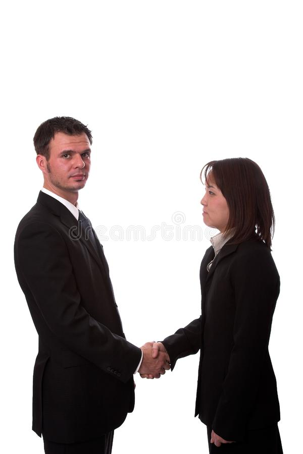 Hand shake 2 royalty free stock photography