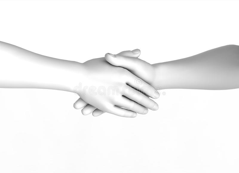 Download Hand shake stock illustration. Illustration of meeting - 24837550