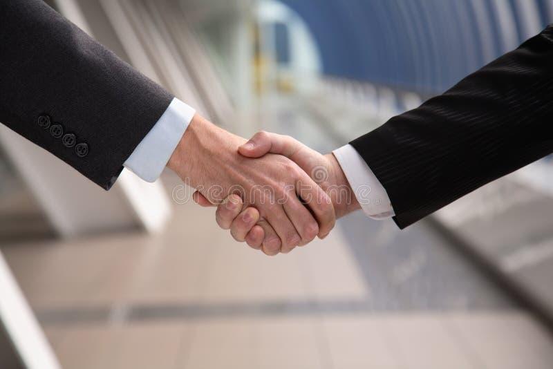 Hand shake. stock images