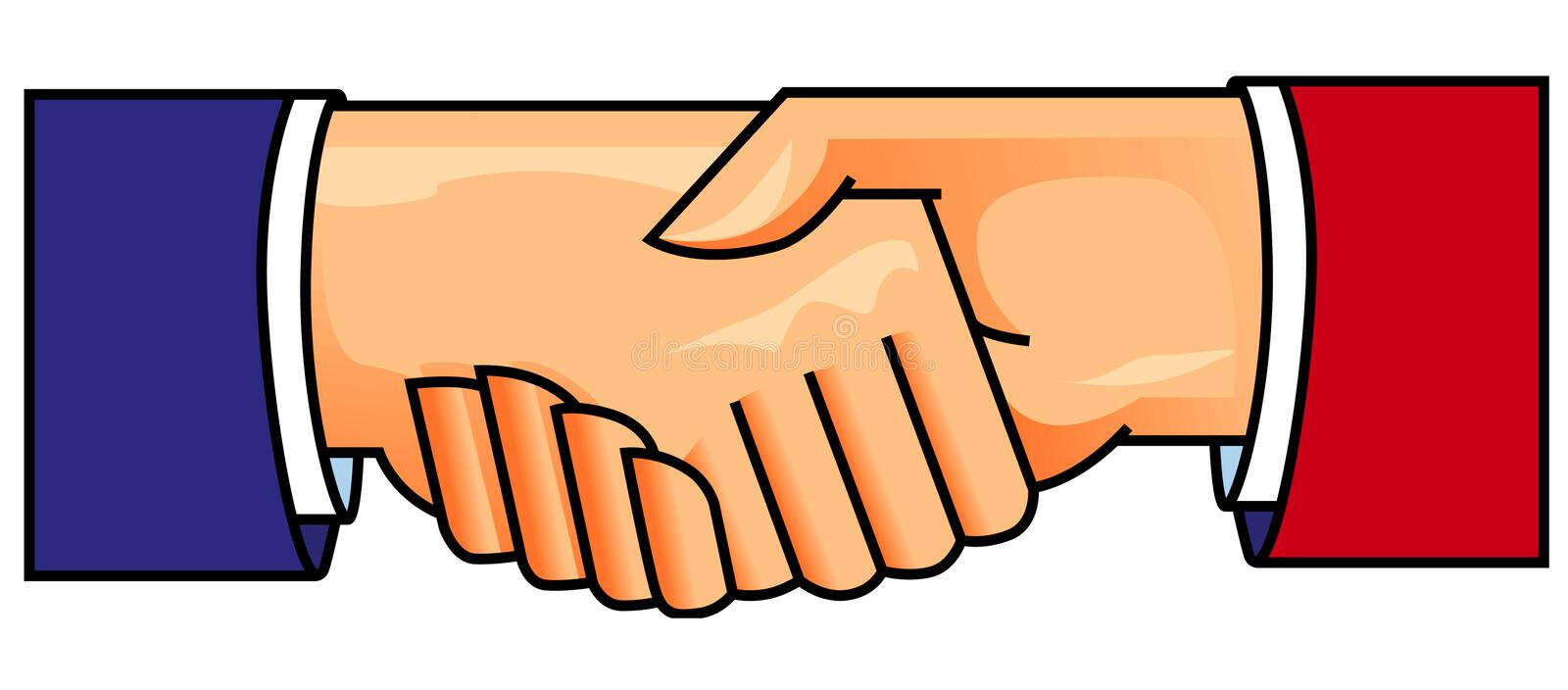Hand shake stock illustration