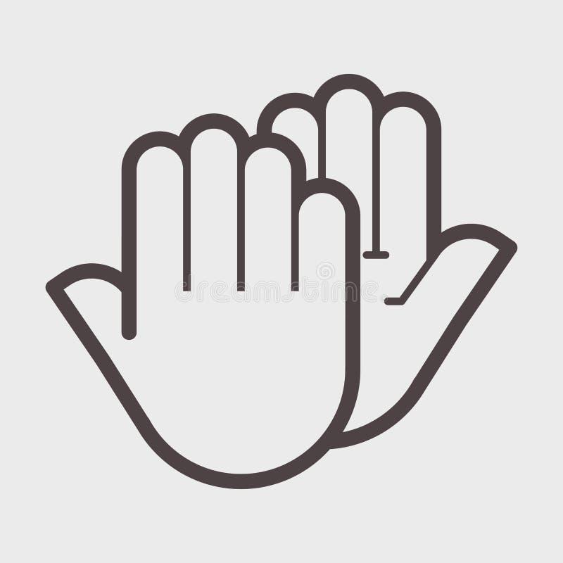 Hand shake gesture. stock illustration