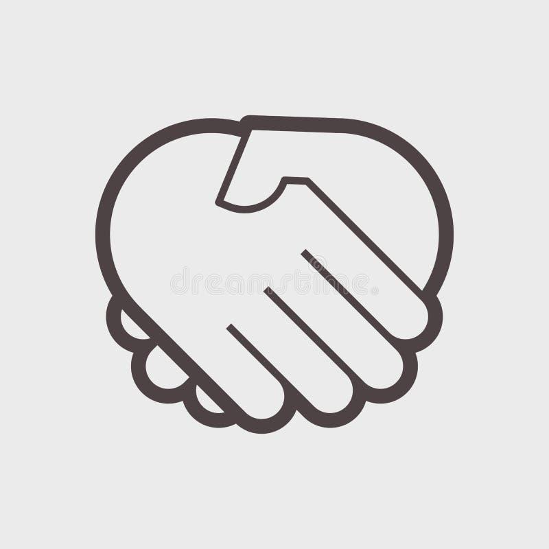 Hand shake gesture. Symbol agreement agreement, contract. Vector illustration vector illustration