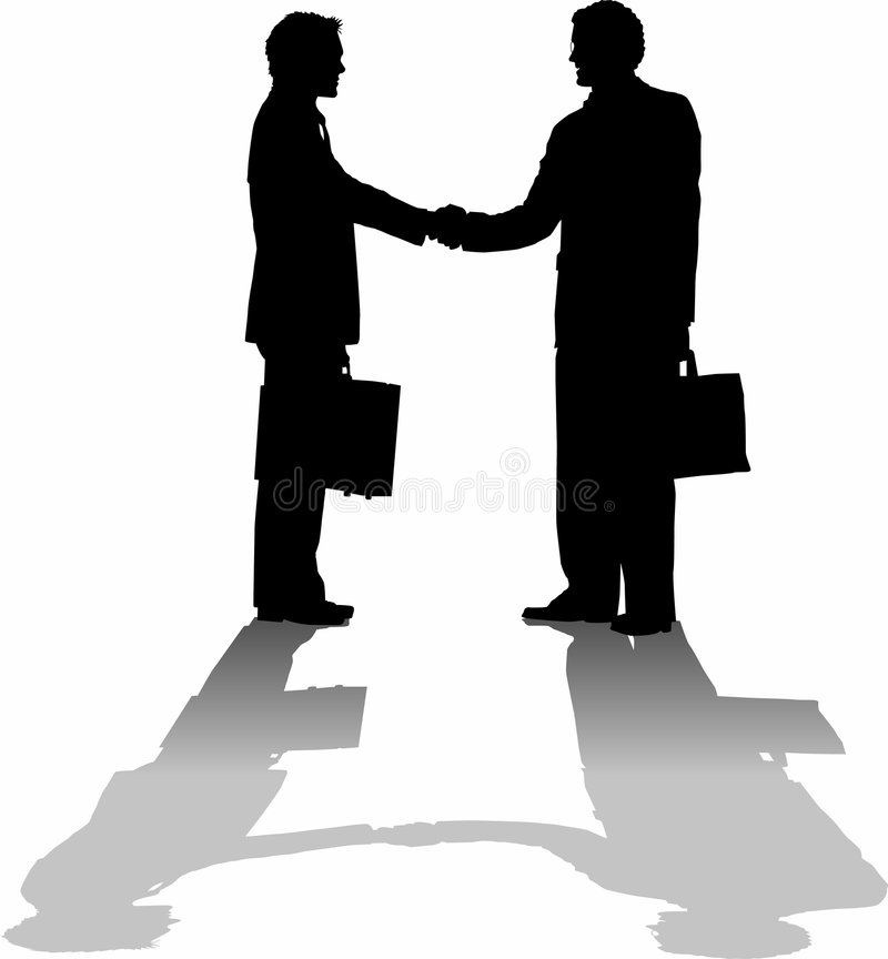 Hand_shake_greeting royalty free illustration