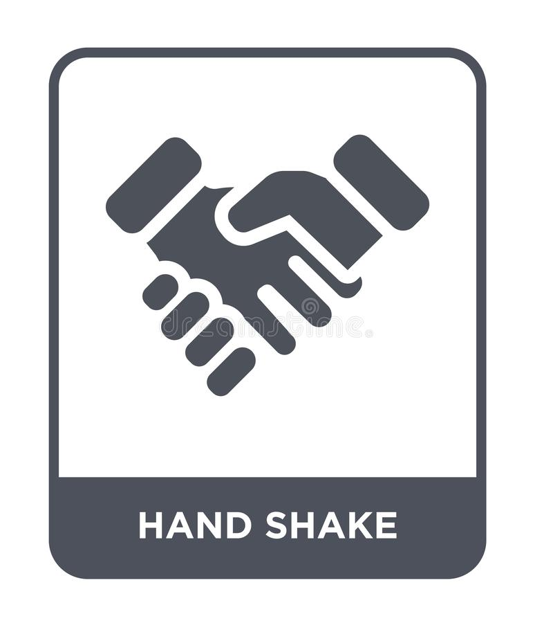 hand shake icon in trendy design style. hand shake icon isolated on white background. hand shake vector icon simple and modern royalty free illustration