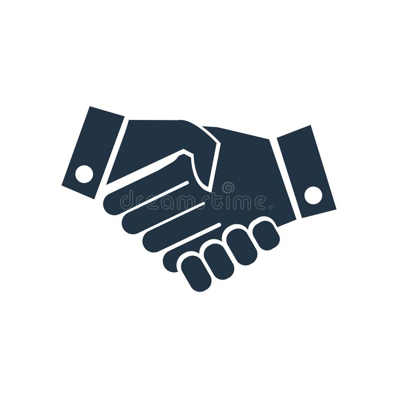 Hand shake icon vector isolated on white background, Hand shake sign stock illustration