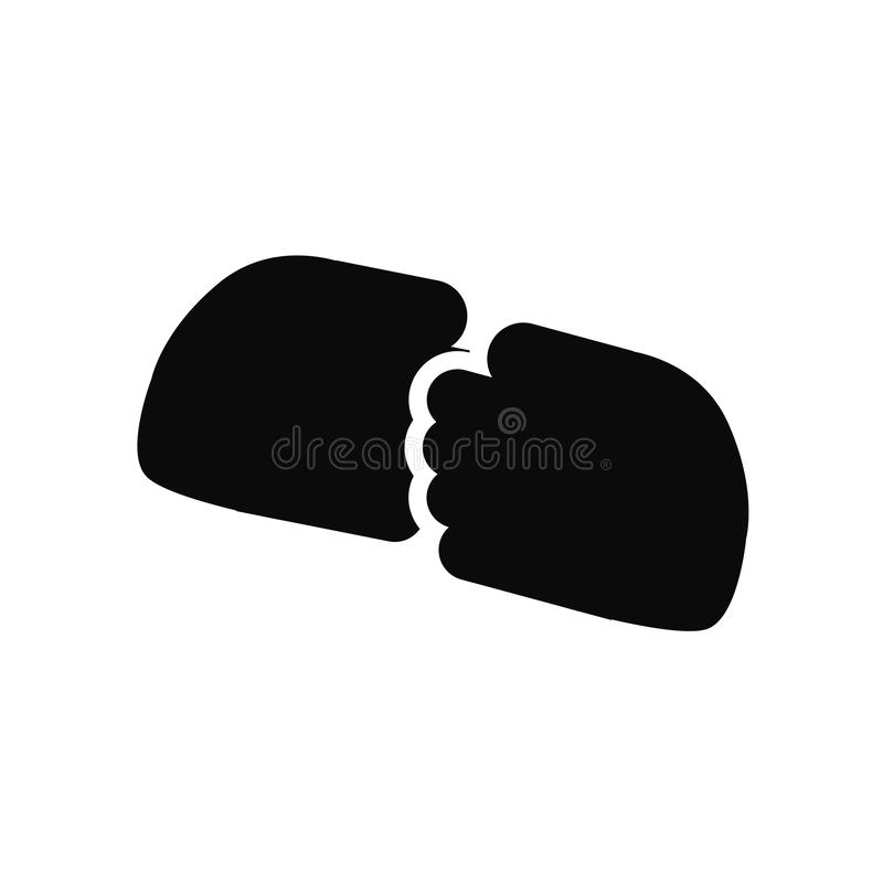 Hand shake icon vector isolated on white background, Hand shake sign , black symbols vector illustration