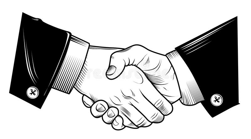 Hand Shake. Ilustrator design .eps 10 royalty free illustration