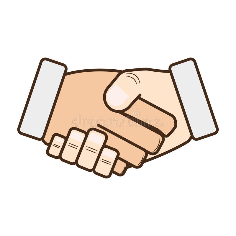 Hand shake isolated icon stock illustration