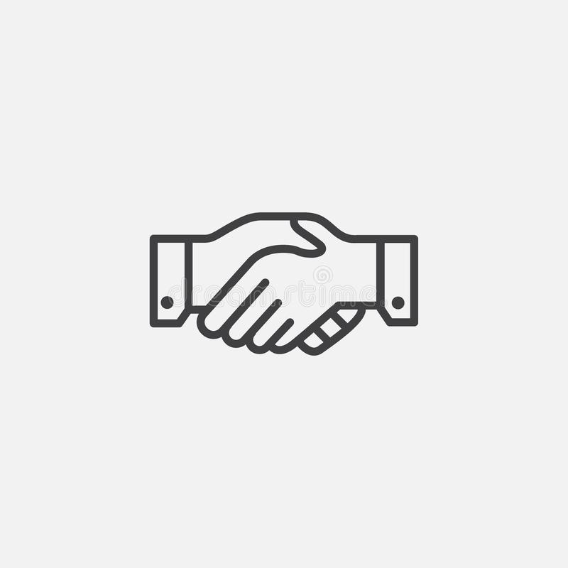 Free Hand Shake Linear Icon Stock Image - 159892971