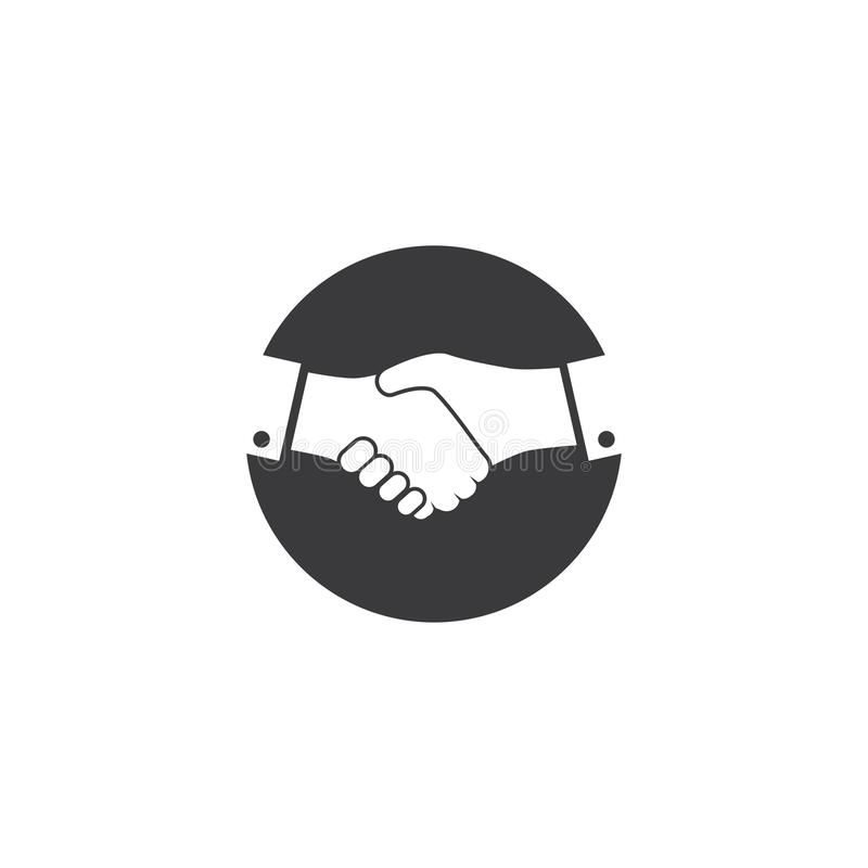 Hand Shake logo. Template vector, handshake, icon, cooperation, deal, partnership, business, design, concept, friendship, symbol, agreement, illustration vector illustration