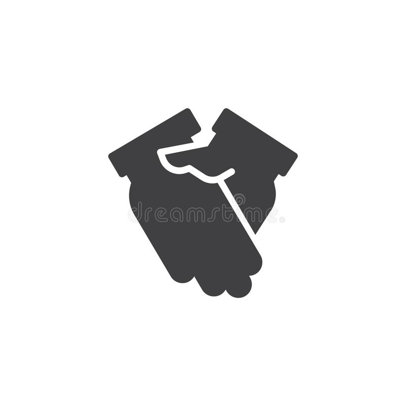 Hand shake vector icon royalty free illustration