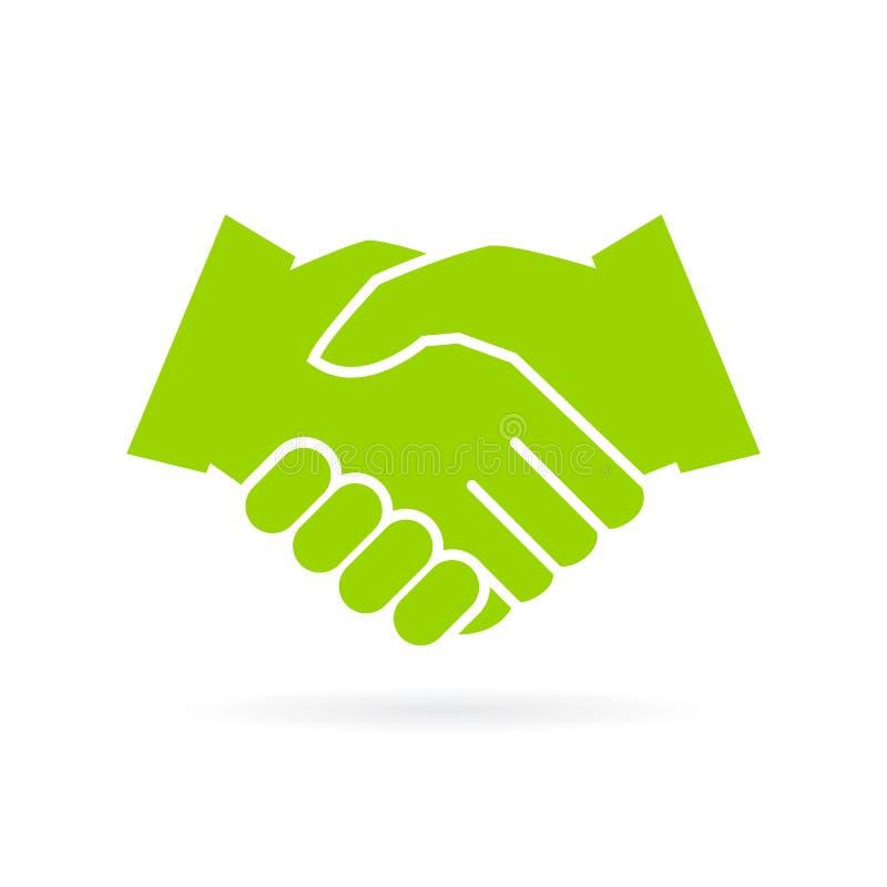 Hand shake vector icon. Isolated on white background stock illustration