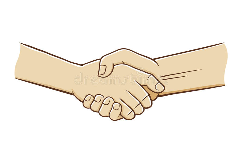 Hand Shake Vector Illustration stock illustration