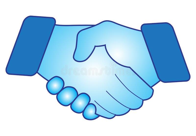 Hand Shake. Vector illustration of hand shake on white background royalty free illustration