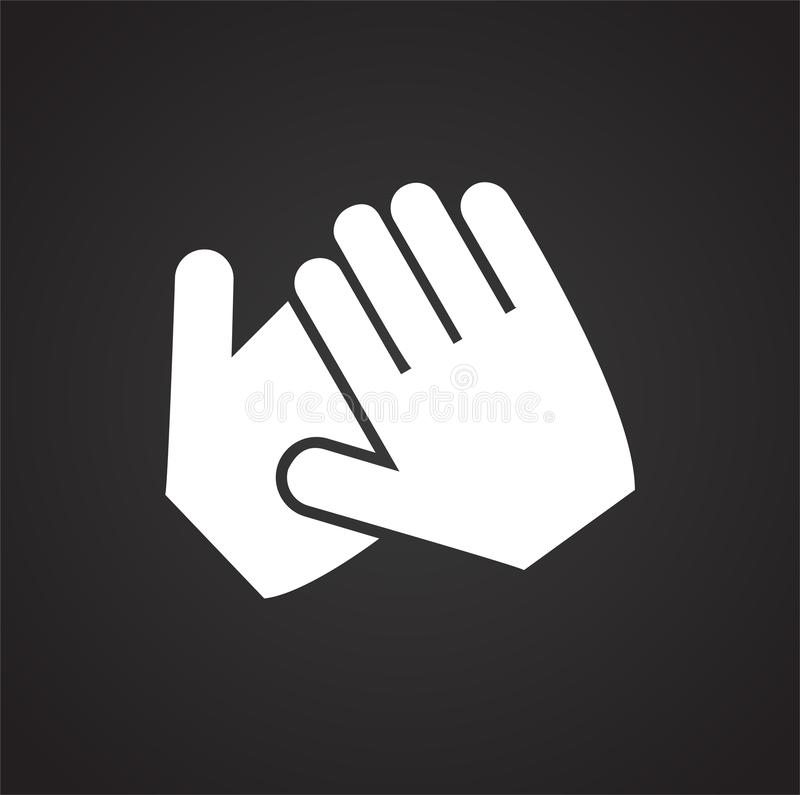 Hand shaking icon on white background for graphic and web design, Modern simple vector sign. Internet concept. Trendy symbol for stock illustration