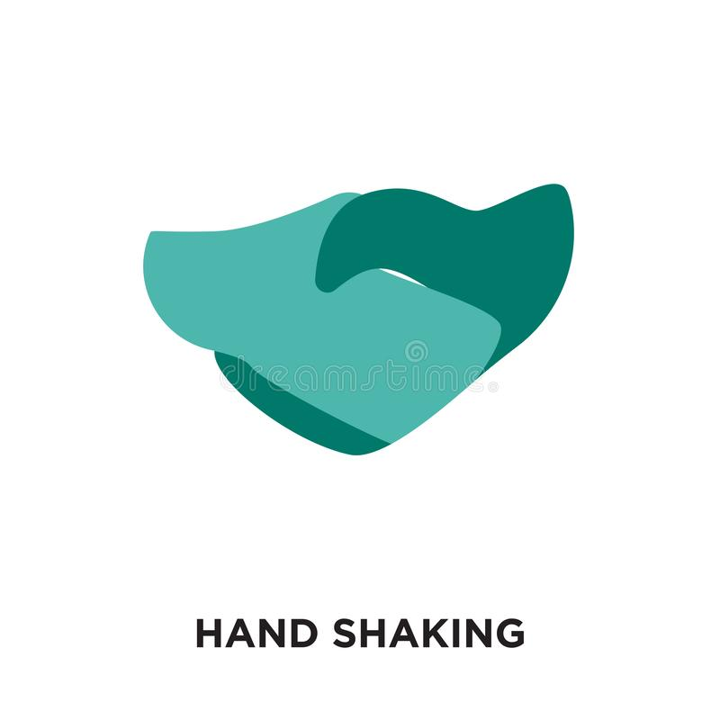 Hand shaking logo isolated on white background for your web, mob. Ile and app design vector illustration