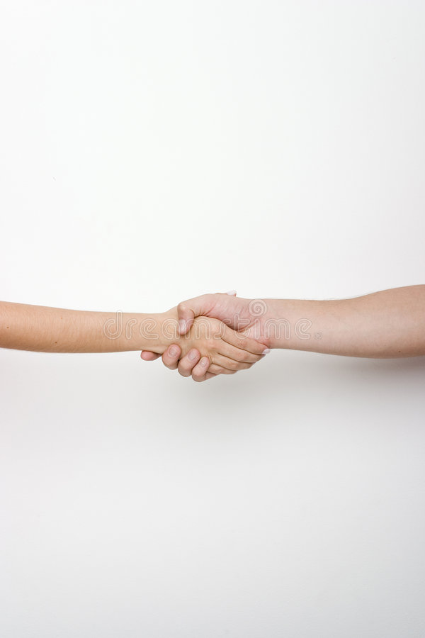 Hand shaking vertical royalty free stock images
