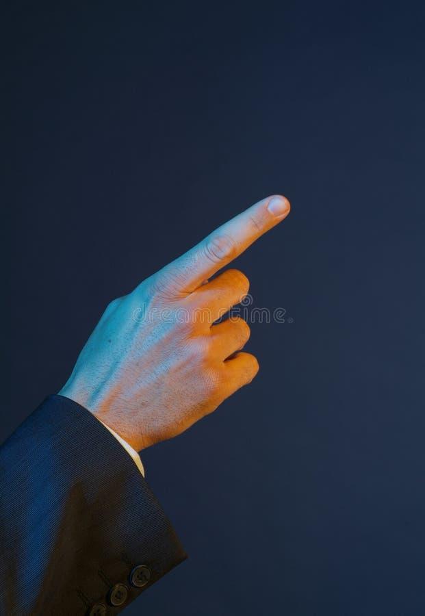 Hand_show imagem de stock