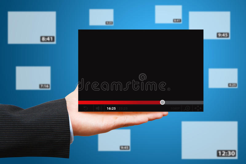 Download Hand Show Windows VDO Download Stock Image - Image: 24104229