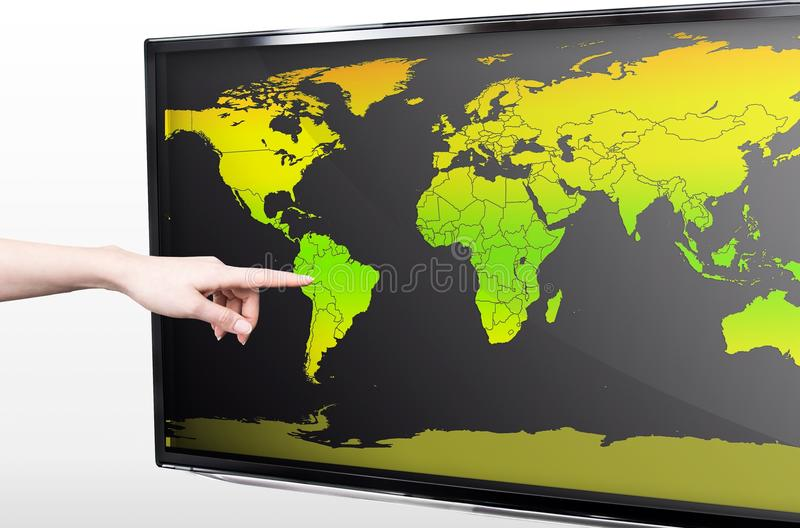 Download Hand Showing Blank World Map Stock Image - Image: 30566171