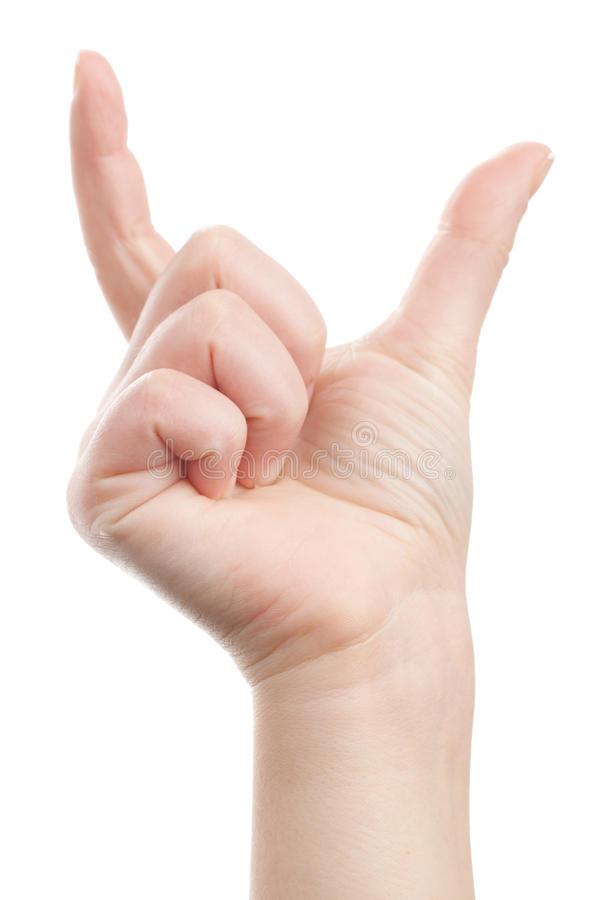 Hand Showing Distance Royalty Free Stock Image
