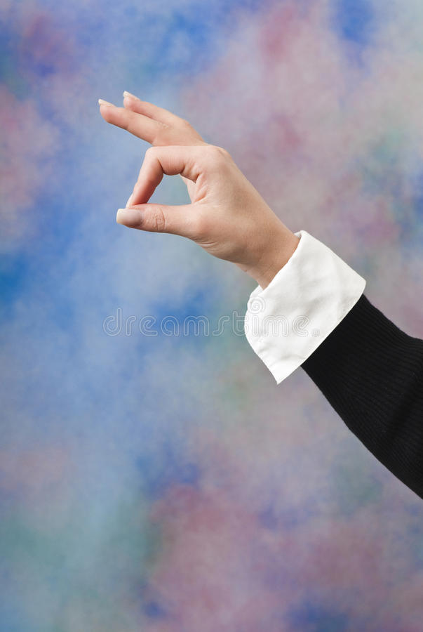 Hand Showing OK Sign Stock Photography