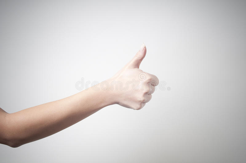 Hand Showing OK Sign Royalty Free Stock Photography