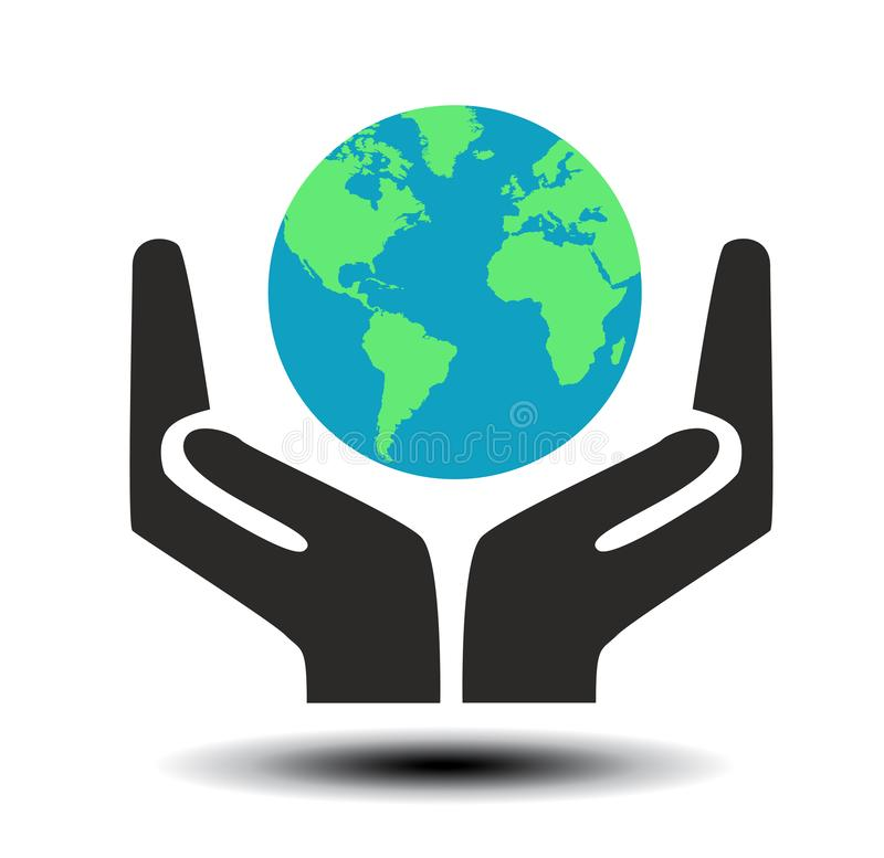 Hand sign of environmental protection royalty free stock photography