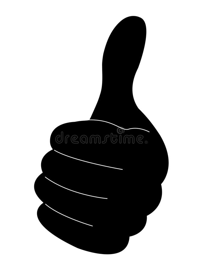 Free Hand Silhouete With Thumb Up Royalty Free Stock Photos - 16080928
