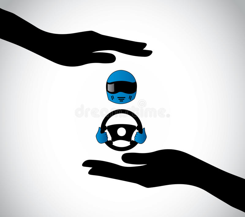 Steering Wheel Shaking >> Human Hand Fist Hold Different Color Paint Brushes Stock Vector - Illustration of human, blue ...