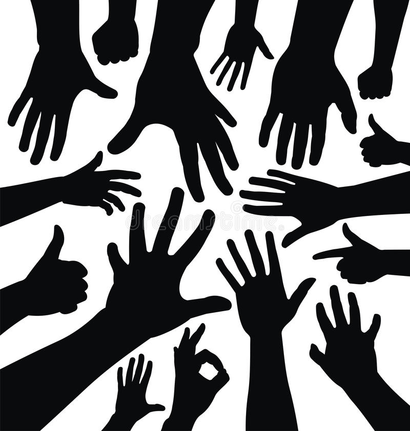 Hand silhouettes royalty free illustration