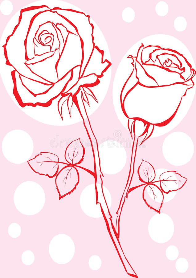 Hand sketched rose. stock illustration