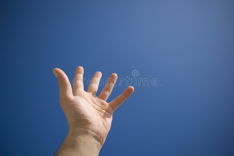 Hand an the sky stock photography