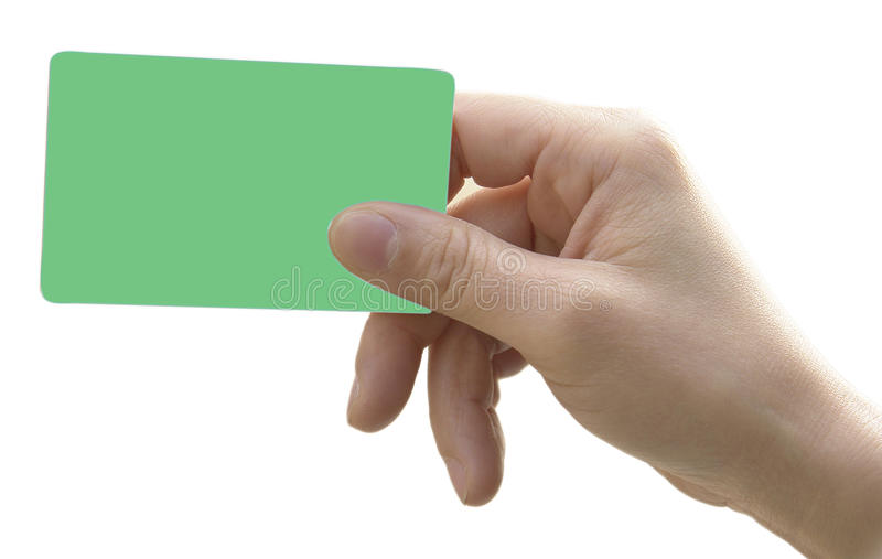 Hand With Smart Card Stock Images