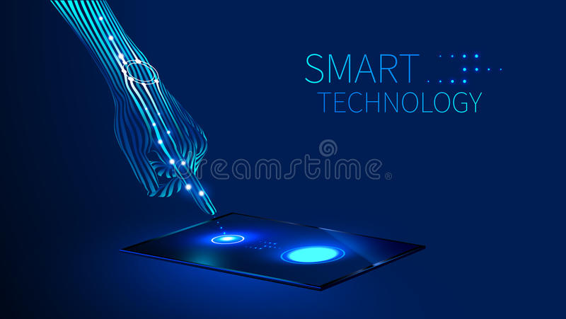 Hand smart technology royalty free illustration