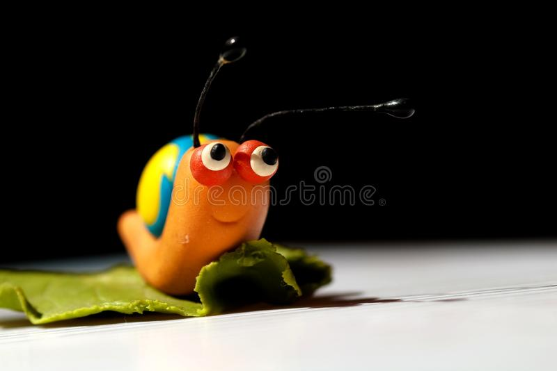 Hand Snail. By my daughter royalty free stock photos