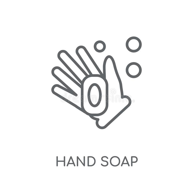 Hand soap linear icon. Modern outline Hand soap logo concept on vector illustration