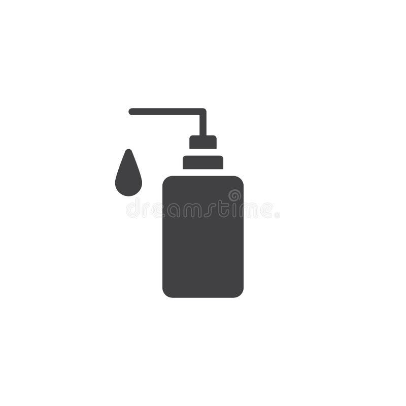 Hand soap vector icon stock illustration