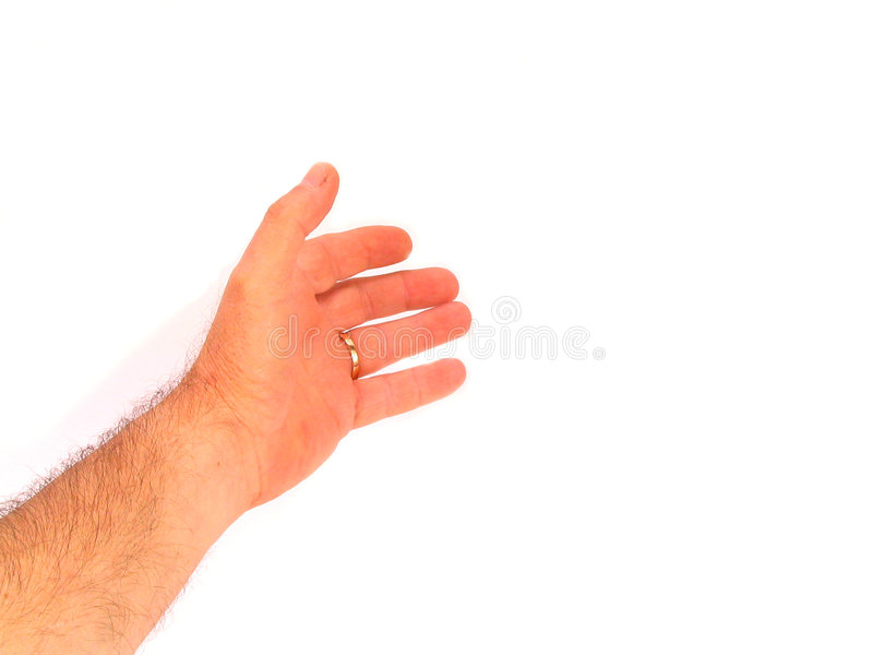 Download Hand Som Hjälper över White Fotografering för Bildbyråer - Bild av fingrar, delar: 161611