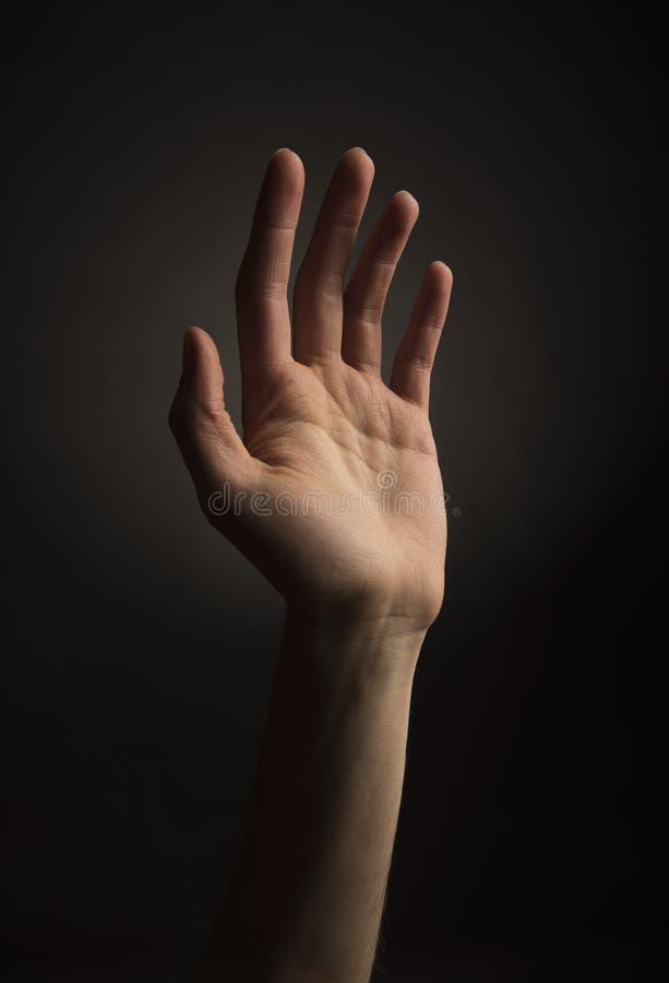 hand som ner upp royaltyfria foton