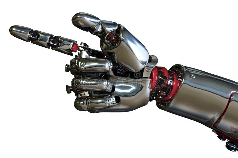 hand som pekar roboten royaltyfri illustrationer