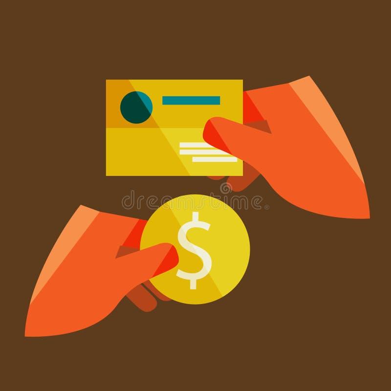Hand som rymmer ett affärskort royaltyfri illustrationer