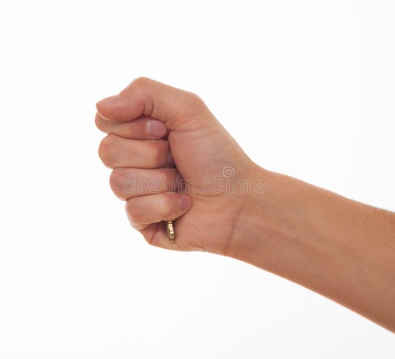 hand som rymmer key man s arkivbild