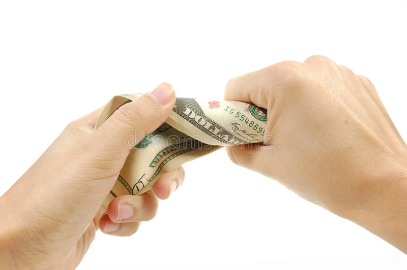 Download Hand Squeezing Money Royalty Free Stock Images - Image: 18335099