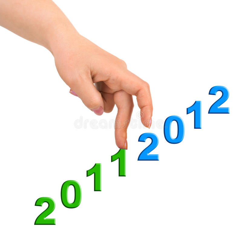 Download Hand and stairs 2012 stock photo. Image of digit, inspiration - 22111348