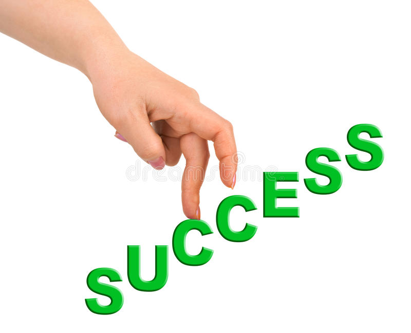 Hand and stairs Success royalty free stock photo