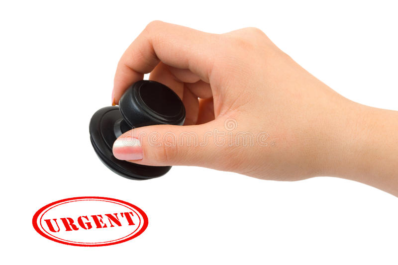 Download Hand and stamp Urgent stock photo. Image of document - 14457278