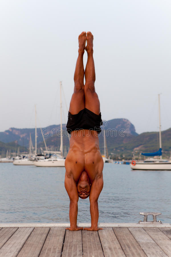 Download Hand stand man stock image. Image of power, muscle, male - 26148611